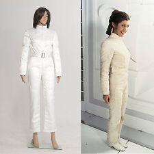 Star Wars Hope Princess Leia Organa White Jumpsuit Uniform Halloween Custom Made