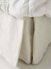 NEW Anthropologie Relaxed Cotton King Bed Skirt