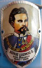 Konig Ludwig II von Bayern new badge mount stocknagel hiking medallion G9846