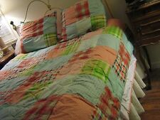 Xhilaration Plaid Bed In A Bag Quilt/Duvet, Pillow Cases & Dust Ruffle Full Size