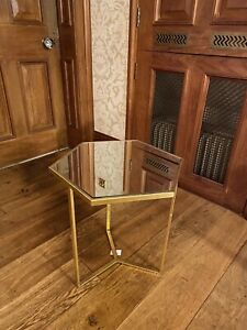 Hexagon Bedside, Coffee Table, Sitting Room Table - Gilt Effect - Modern French