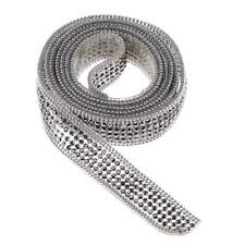 1 Yard Rhinestone Ribbon Crystal Applique Bridal Belt Headband Wedding Trim