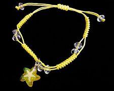 Friendship bracelet shamballa Bead Green Real starfish Color string Star Glitter