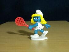 Smurfs Tennis Smurfette 20135 Smurf Vintage Figure Rare PVC Toy Figurine 1980s