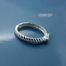 Solid Sterling Silver Rope / Twist Like Oval Shortener Enhancer Connector #33261