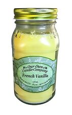 French Vanilla Scented Candle in 18.5 oz Mason Jar by Our Own Candle Company