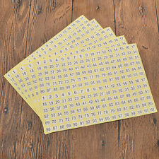 5 Sheets Round 1 To 102 Number Self Adhesive Stickers Small Garment Labels Tags