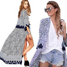 Summer Women Maxi Long Cardigan Coat Jacket Kimono Blouse Chiffon Sunscreen Tops