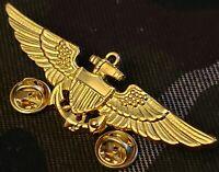 US Navy Aviation Wing Badge Naval Aviator Pilot Pin Insignia Gold Plated USN-AVB