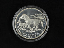 250 Tögrög Mongolei 1992 Endangered Wildlife Wildpferde Silber 925 PP