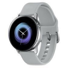 Samsung Galaxy Watch Active - 40mm Silver Aluminium - Light Grey Silicone - VGC