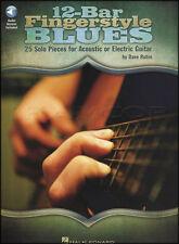 12-Bar Fingerstyle blues guitar scheda LIBRO & Audio acustico Elettrico Fingerpicking