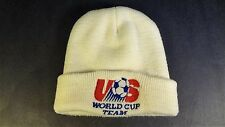 VTG Adidas US World Cup Soccer Knit Hat White 1994