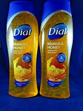 Lot of 2 Dial Skin Therapy MANUKA HONEY Enriching Body Wash 16oz Rich Lather