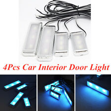 4Pcs Car Door Bowl Handle LED Ambient Atmosphere Light Interior Accessories