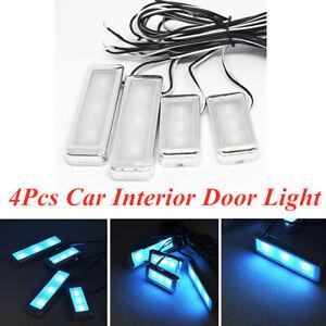 4Pcs Car Door Bowl Handle LED Ambient Atmosphere Light Interior Accessories