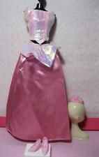 Barbie Doll Princess Aurora Sleeping Beauty Pink Skirt Gown/Iridescent Top