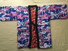 Japanese Hanten Kimono Jacket (L)Reversible Warm Room Wear Plum Red from JAPAN