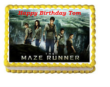 The Maze Runner Birthday Party Icing Edible Cake Topper 1/4 frosting sheet