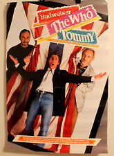 1989 Budweiser The Who Tommy Rock Opera Live New York LA Music Wall Poster