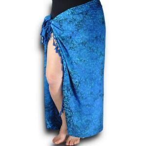 Batik Blue Summer Bathing Suit Bikini Swimwear Cover Up Beach Sarong Wrap