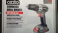 BRAND NEW OZITO 18V CORDLESS DRILL KIT LITHIUM LIION BATTERY FAST CHARGER TOOL