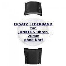 JUNKERS Ersatzband, Wechselband schwarz für Herrenuhren, Stegbreite 20mm