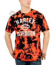 Harley-Davidson Mens B&S Sublimated Safety Orange and Black Short Sleeve T-Shirt