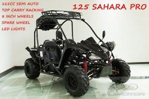 125CC Buggy ATV Sport Quad Dirt Bike 4 Wheel  Go kart Semi Auto SAHARA PRO Black