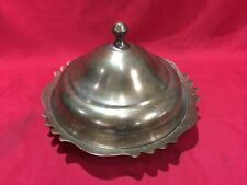 ANTIQUE WEALTHY ISLAMIC BOWL PLATE WITH LID ARABIC OTTOMAN TOMBAK GOLD PLATED