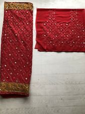 Sari Sari con Blusa Tejido Wrap Lengha Bollywood Fancy Dress Costume Dance