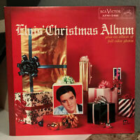 "ELVIS PRESLEY - Christmas Album (50th Anniv. + Book) - 12"" Vinyl Record LP - EX"