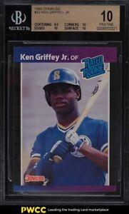 1989 Donruss Ken Griffey Jr. ROOKIE RC #33 BGS 10 PRISTINE