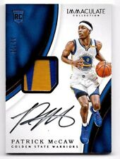 "Patrick McCaw # 06/25 ""True RPA"" Rookie Patch Auto 2016-17 Panini Immaculate"