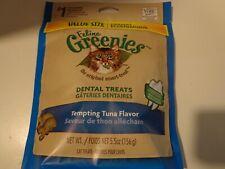 "Value Size FELINE GREENIES Dental Treats ""Tempting Tuna Flavor"" (5.5oz) (NEW)"