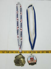 Lot of 2 Metals Football Basketball Sports Lanyards Awards Cloisonne Gold T