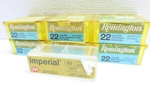 Used Vintage Remington .22 Cal EMPTY - 100 Ct. Plastic Ammo Boxes Cases Imperial