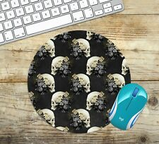 Skulls and Flowers Mouse Pad, Choose Shape, Non Slip Neoprene, Easy Glide