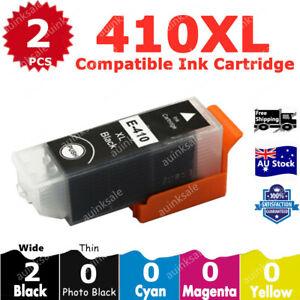 2x Non-OEM 410XL Black Ink Cartridges for Epson XP530 XP 540 630 640 900