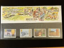 INDUSTRY YEAR Royal Mail Mint stamps Presentation Pack #168 1986