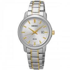 Seiko SUR745P1 señoras Bi-Color De Acero Inoxidable Reloj De Vestir 50m fecha