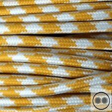 Textilkabel, Stoffkabel, Stern Gelb Weis 2 adrig 2 x 0,75 mm² rund (Meterware)