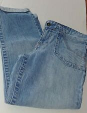 Calvin Klein cuffed denim 5 pocket capri pants