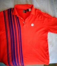 Clemson Tigers Chiliwear Orange Purple ~ Cotton Golf Polo Shirt ~ Men's Size M