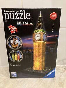 RAVENSBURGER 3D JIGSAW PUZZLE NIGHT EDITION Big Ben Puzz 3d