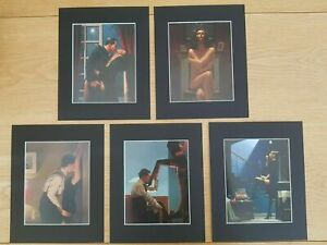Jack Vettriano The Erotic Selection Set of 5 BLACK Mounted prints