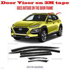 fits Hyundai Kona 2018-2021 Window Wind Deflector Visor Rain Sun Guard Vent 6pcs (Fits: Hyundai)
