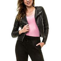 Vero Moda Damen Bikerjacke Kunstlederjacke Damenjacke Leichte Jacke Biker