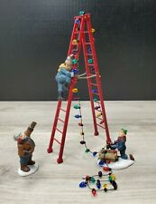 """Dept 56 Heritage Village Collection """"Town Tree Trimmers"""" Set of 4 Org Box Guc"""