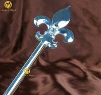 Imperial Medieval Scepter Wand Silver King Sceptre Party Costumes Accessory Prop